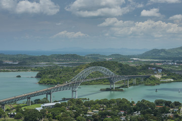 Bridge of the Americas, Panama Canal, Panama city, Central America