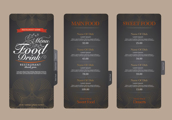 Restaurant menu design..
