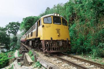 train on the tracks