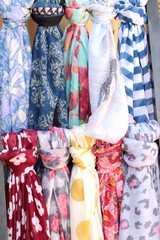 The scarf shop at the market