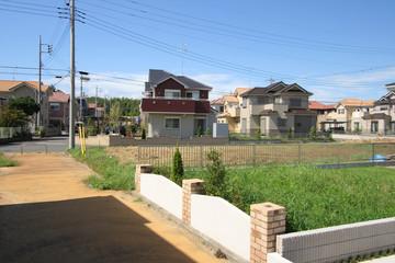 分譲住宅街と土地(空き地) 宅地造成
