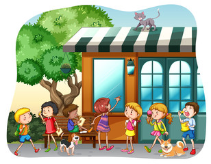 Children and shop