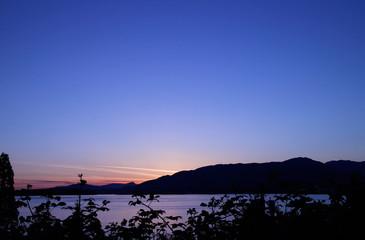 burard inlet sunset