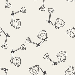 lamp doodle seamless pattern background