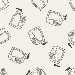 cleaner bottle doodle seamless pattern background