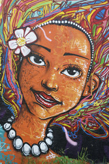 Brazilian Woman Street Art Graffiti