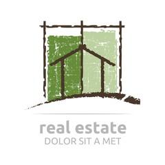Logo Architecture Real Estate building Business Arrow