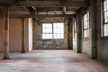 Fotobehang Industrial geb. Empty warehouse office or commercial area, industrial background