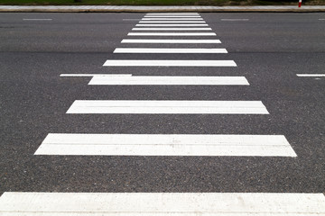 pedestrian crossing on the road