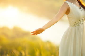 Bride Enjoying Nature