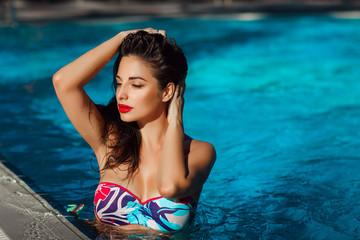 Beautiful woman at beach vacation girl