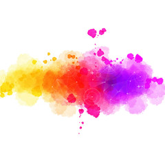 Bright watercolor stains, business background,