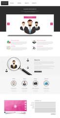 Corporate Website Template, Professional Design.