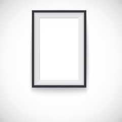 Picture wood frame vertical, vector for image or text.