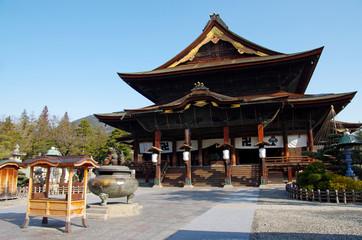 Foto auf Acrylglas Tempel 善光寺本堂