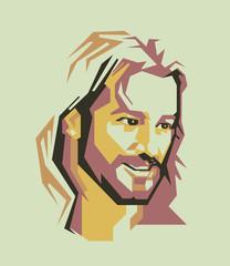 Jesus crist vector potait