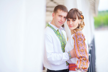 beautiful couple in love. photos in gentle tones