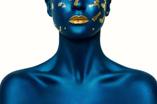 Blue Halloween Makeup