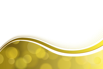Background abstract yellow gold circle lines wave