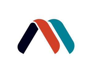 M Ribbon Letter Alphabet Logo Logotype