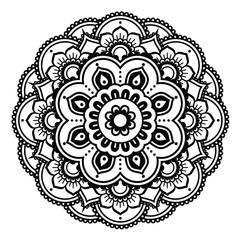 Indian Henna tattoo pattern or background - Mehndi design
