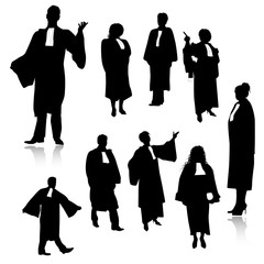 Lawyer silhouettes