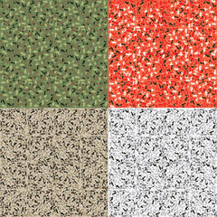 Camouflage pattern set background