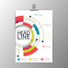 A4 Abstract Background modern Circle design, Business Corporate