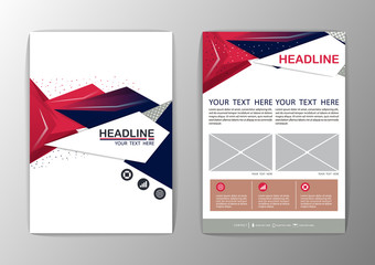 Abstract Background polygon design. Business Corporate Brochure
