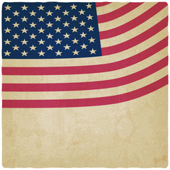 American flag vintage background