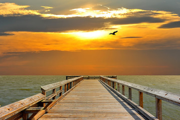 Pier into the sunset