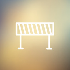 Road Barrier thin line icon