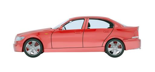 Foto op Canvas Cartoon cars Red car