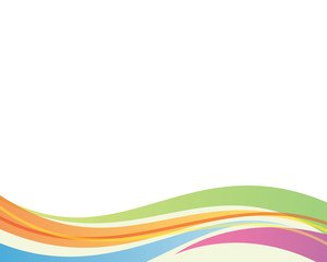 abstract rainbow curve background bottom