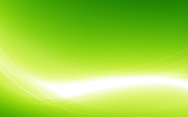 Abstract green background with white wave. Vector illustration