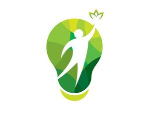creative green herbal health care idea