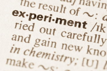 Dictionary definition of word experiment