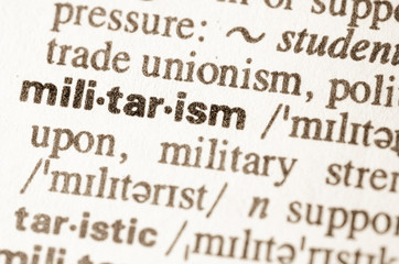 Dictionary definition of word militarism