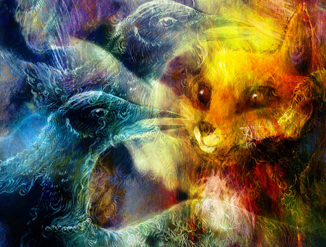 the phoenix bird collage.