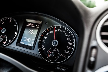 Car, Speedometer, Dashboard.