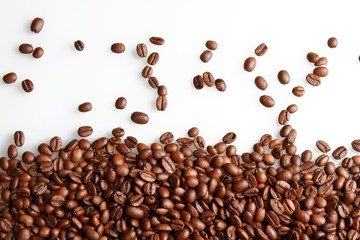 Coffee Bean, White Background, Large Group of Objects.