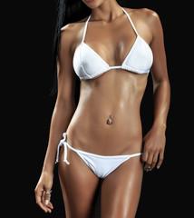 Young beautiful Sexy  woman wearing elegant lingerie