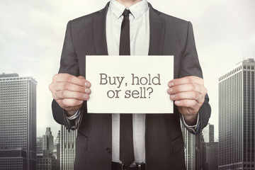 Buy vs hold or sell on paper