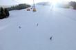 Skifahrer an der Wastlhöhe