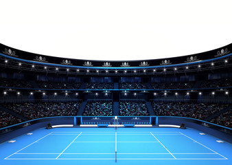 isolated tennis stadium with white empty text space