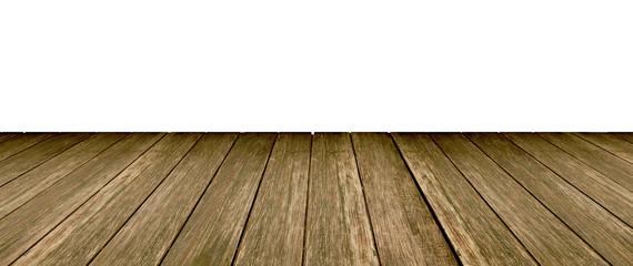 Wooden floor white background