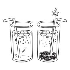 sparkling drink doodle
