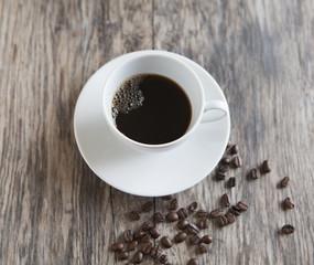 tasse a café et grains