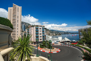 Monte Carlo, Monaco - 02 June 2014. Circuit de Monaco is a stree