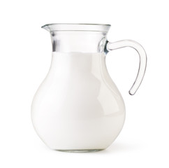 Glass jug milk